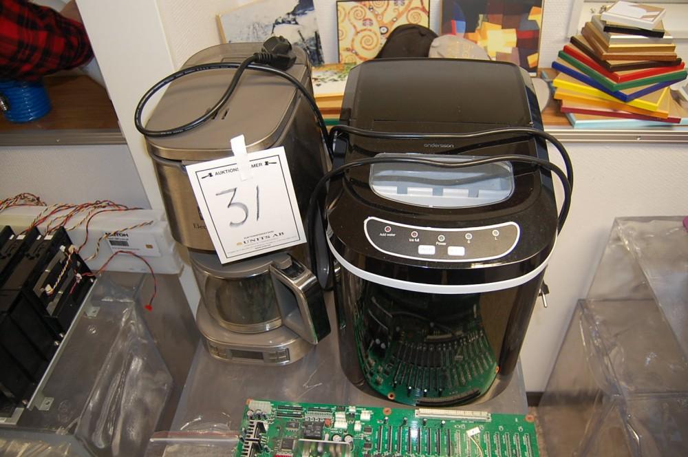 Toppen Units - Kaffekokare Electrolux samt ismaskin Andersson IEM 2.0 KH-42
