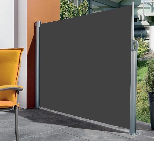Fräscha Units - L051bl, Vancouver utdragbart vindskydd i grå aluminium och XH-97